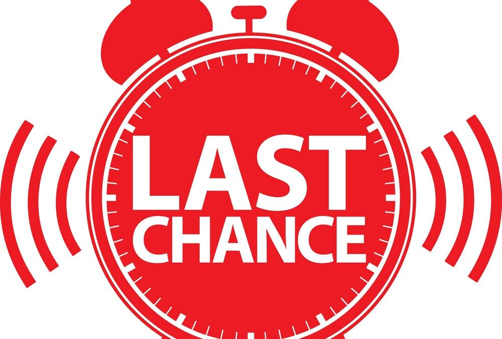 LAST CHANCE TO ORDER MERCHANDISE